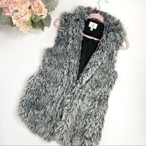Susina Faux  Fur Grey Vest